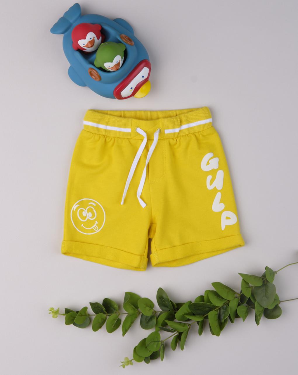 "Shorts menino ""gulp amarelo"" - Prénatal"