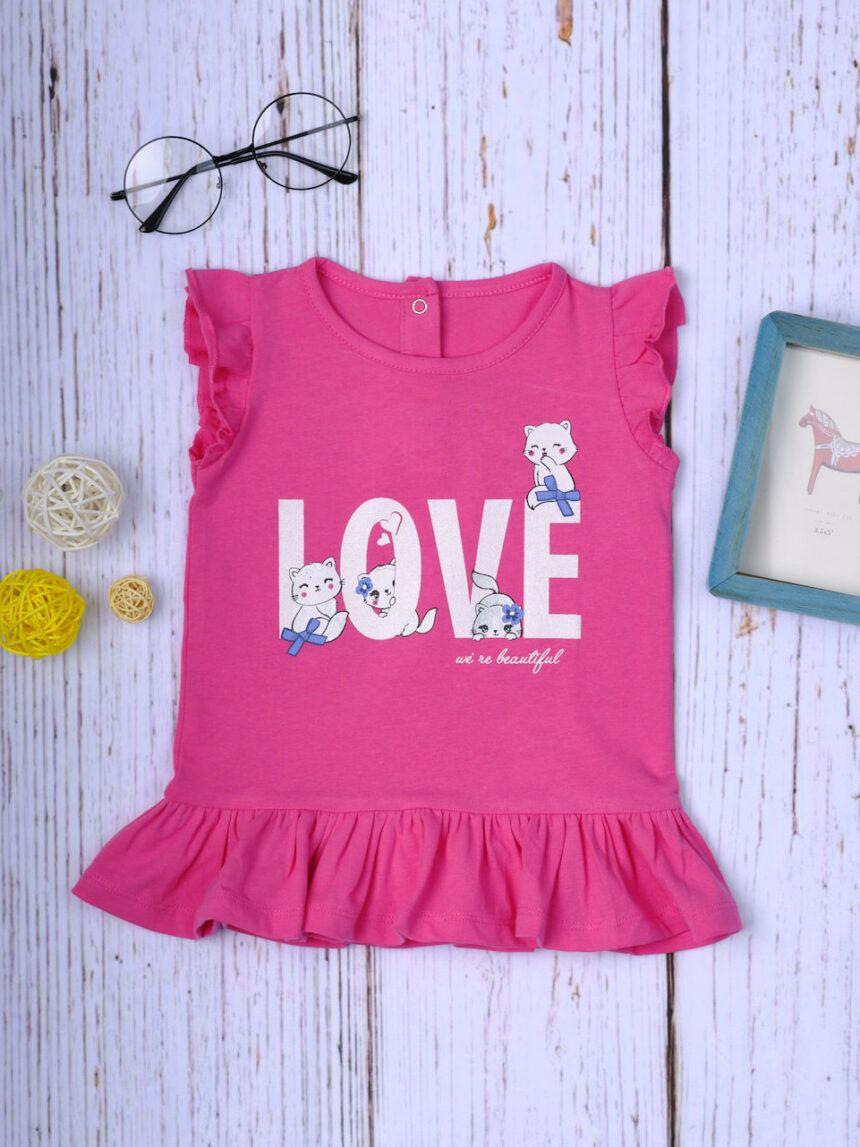 """Camiseta """"gato do amor"""" - Prénatal"""