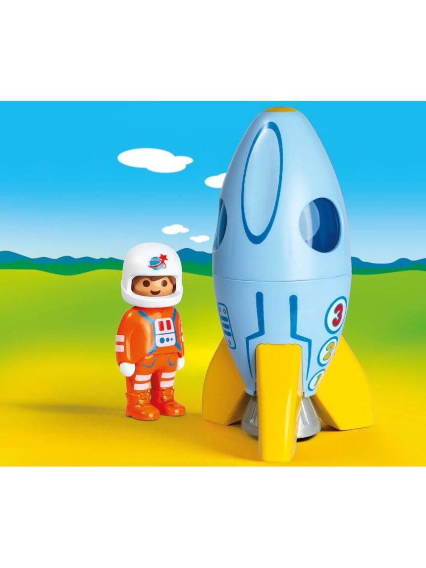 Playmobil - foguete com astronauta 1.2.3 - Playmobil
