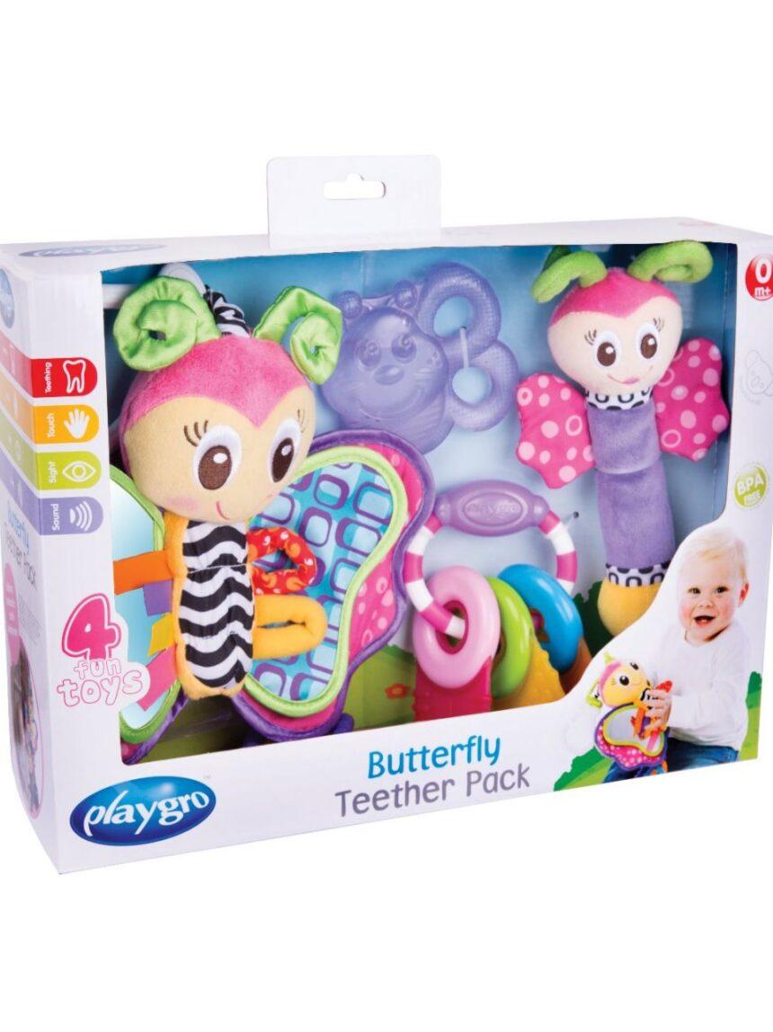 Playgro - pacote de mordedor de borboleta - Playgro