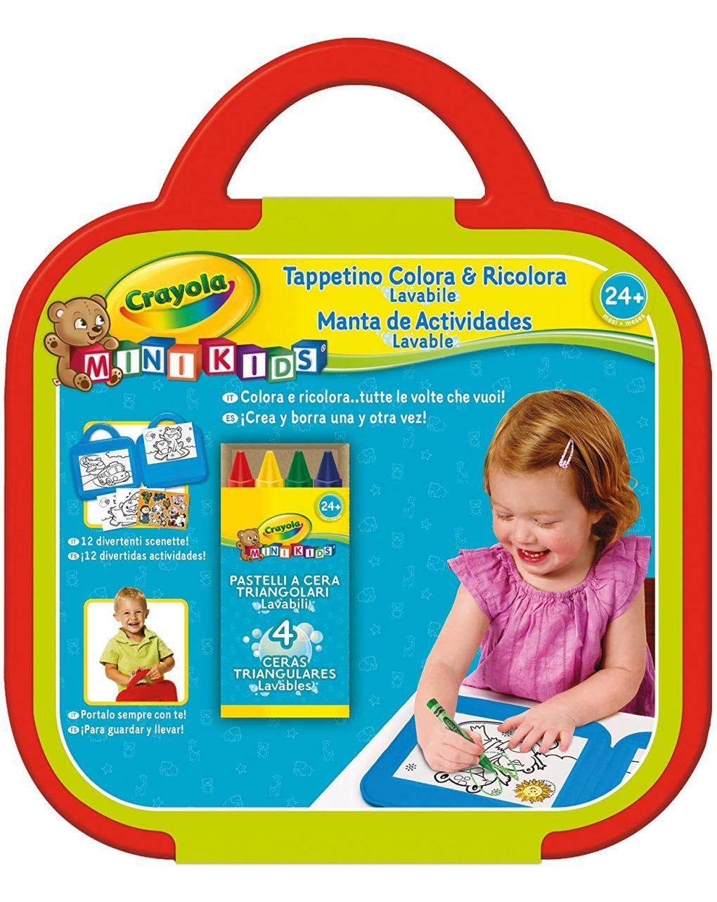 Crayola - mini kids color & recolor playmat - Crayola