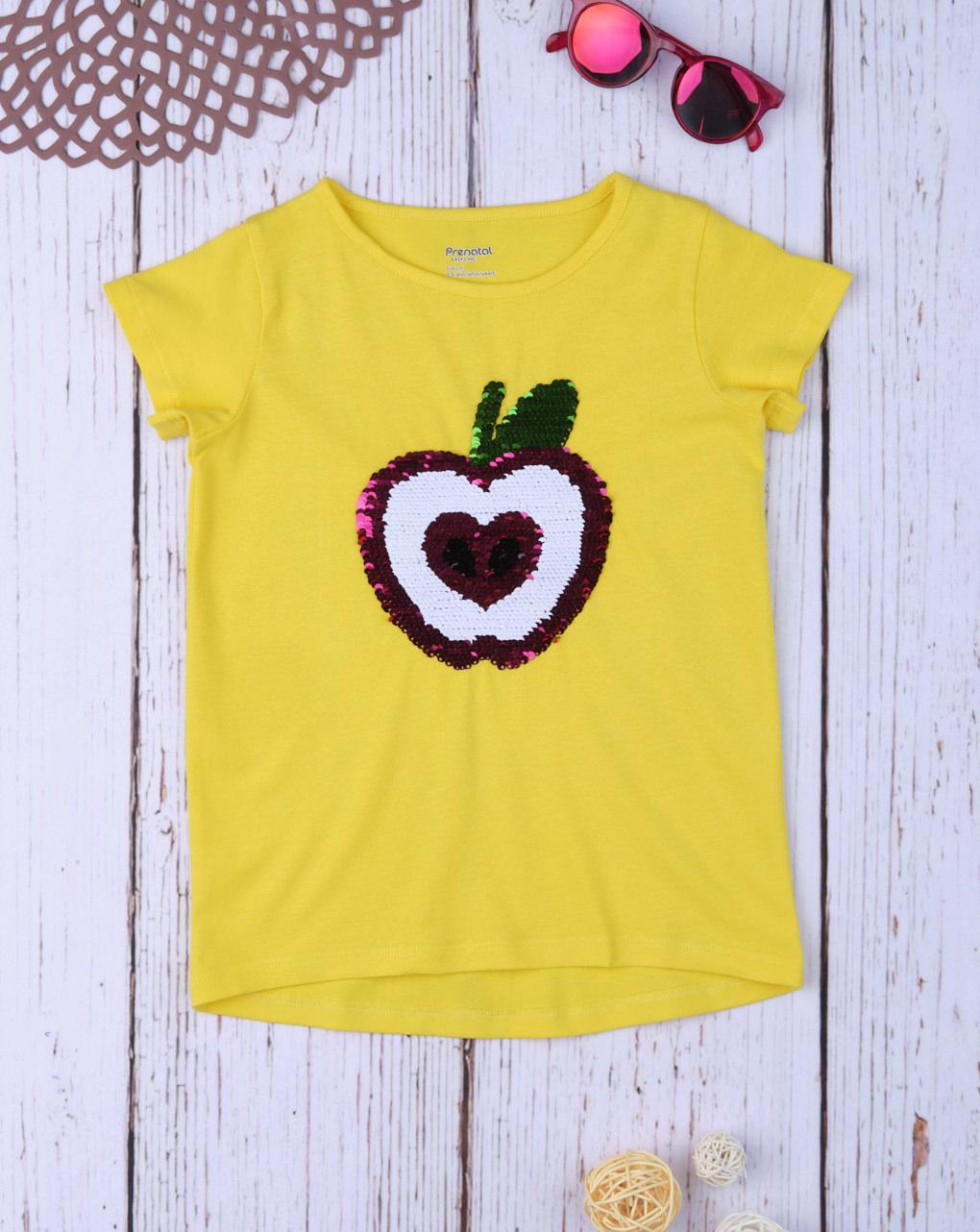 """Camiseta reversível """"maçã"""" de lantejoulas - Prénatal"""
