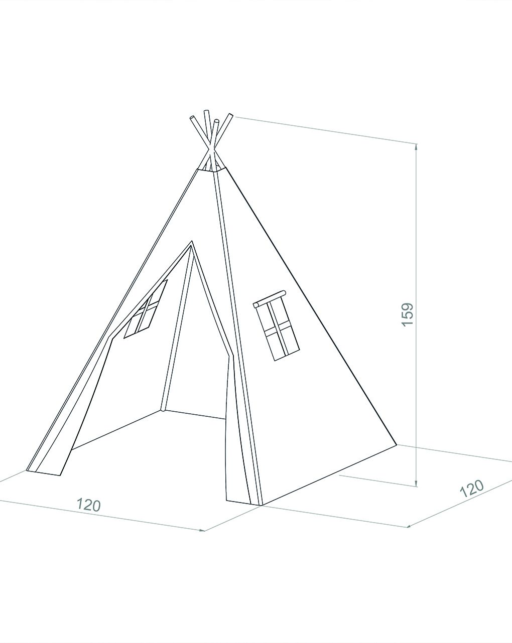Ensolarado - tenda de tenda alba - crema - Sunny