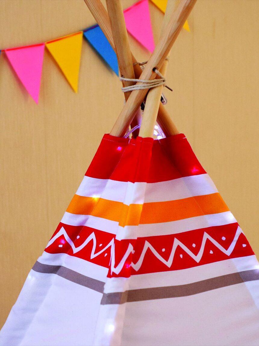 Ensolarado - tenda tenda led - vermelho - Sunny