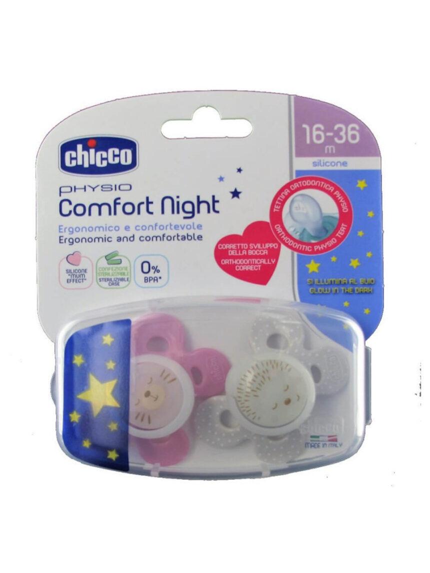 Chupeta bebê comfort lumi silicone 16-36m 2 peças chicco - Chicco
