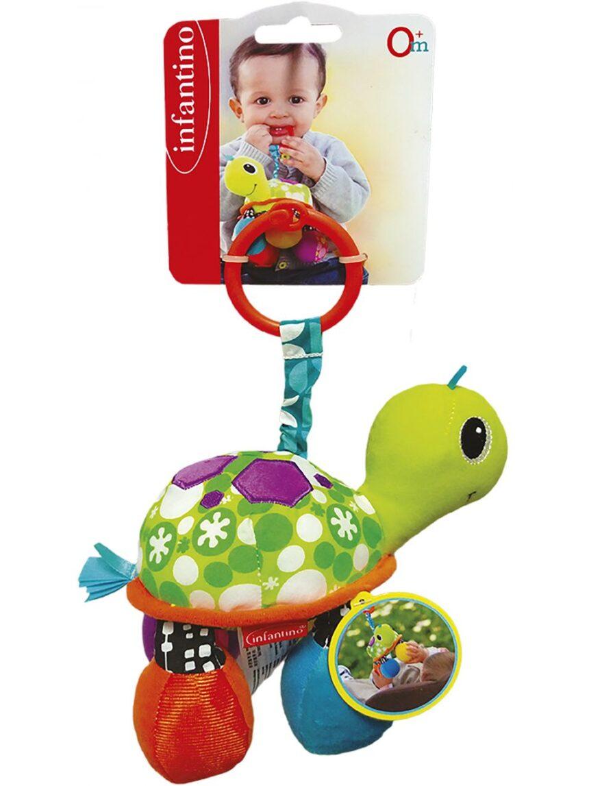 Infantino - chocalho de tartaruga verde - Infantino