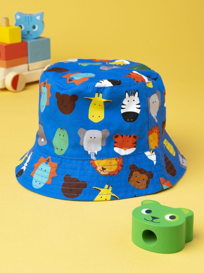 """Chapéu de menino """"zoológico"""" - Prénatal"""