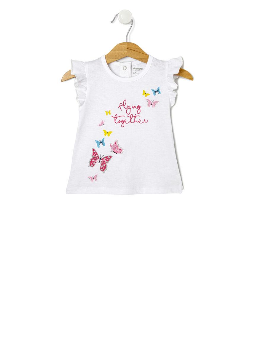 Camiseta de meia manga com estampa borboleta - Prénatal