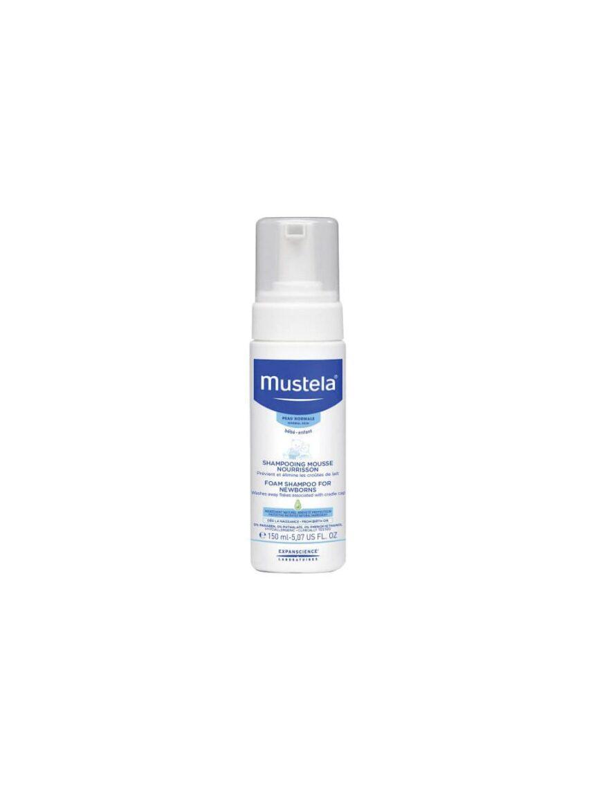 Shampoo de mousse de crosta de leite 150ml - Mustela