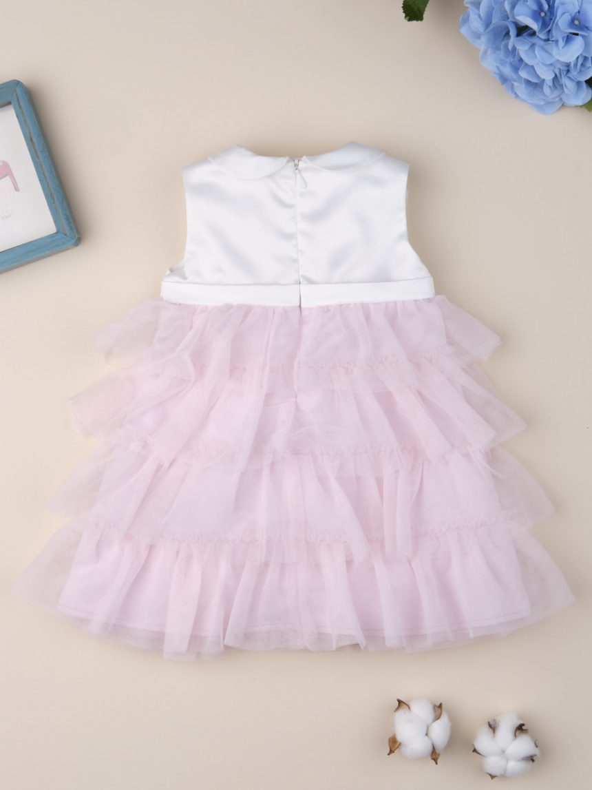 """Vestido de cerimônia feminino """"rosa e branco"""" - Prénatal"""