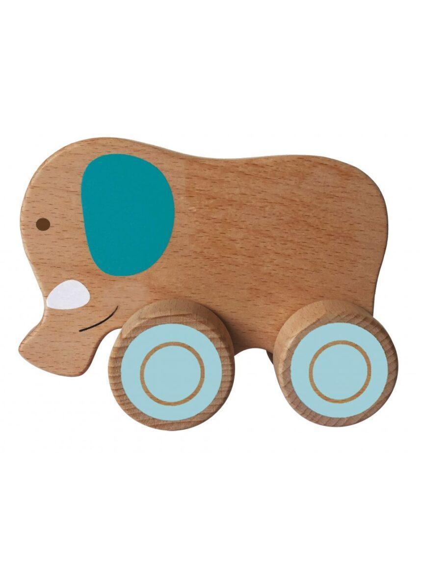 Wood n play - animais de madeira com rodas - Wood'N'Play