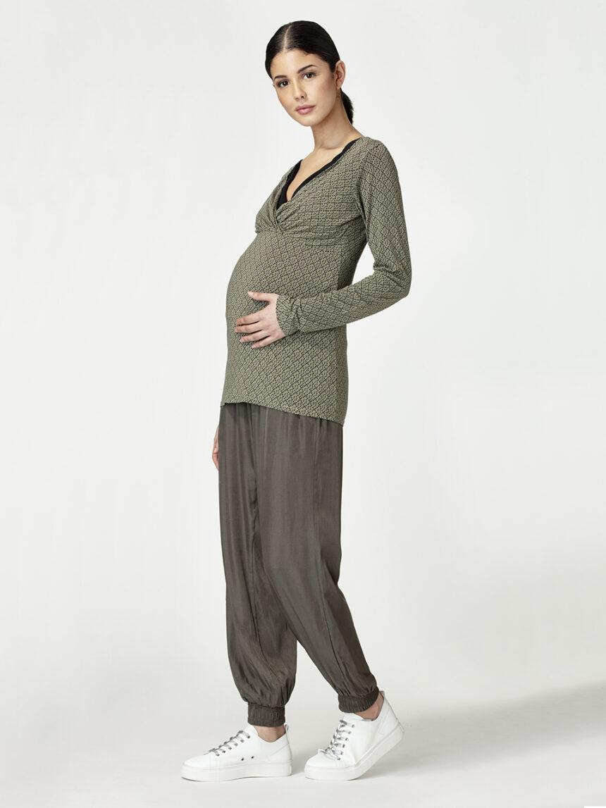 Calça maternidade verde escuro - Prénatal