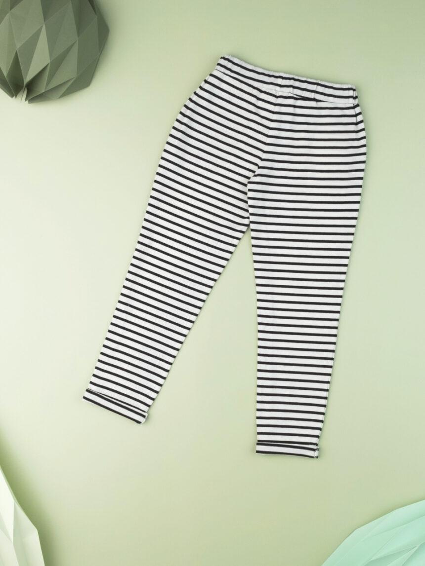 Calça de malha listrada de menina - Prénatal
