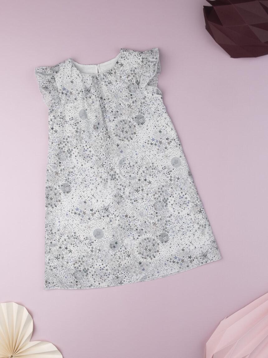 """Vestido infantil """"stelle"""" preto e branco em tecido liberty - Prénatal"""