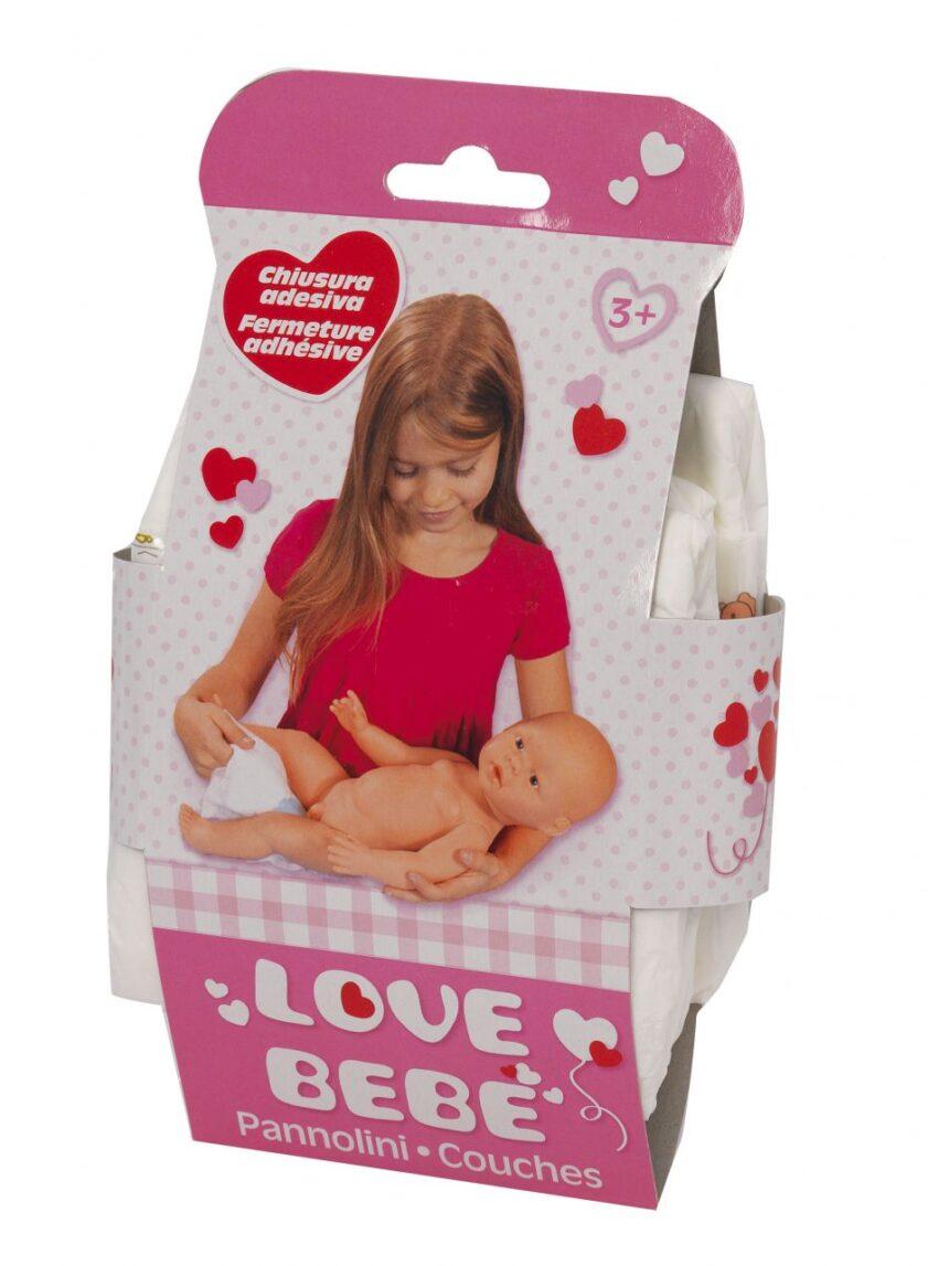 Love bebe '- 3 fraldas para boneca - Love Bebè