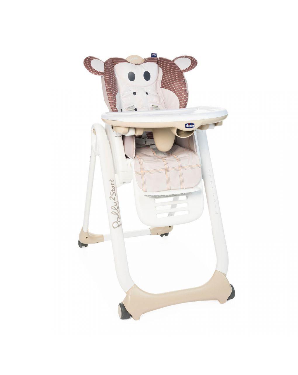 Cadeira alta chicco polly2start monkey - Chicco
