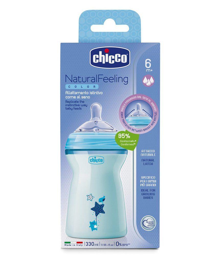 Sensação natural de biberon 6m + blu - Chicco