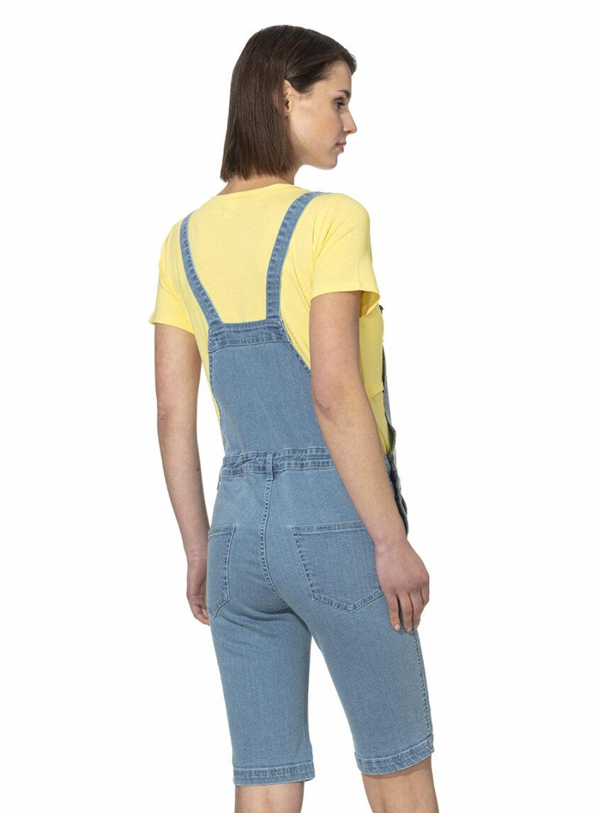 Macacão jeans curto - Prénatal