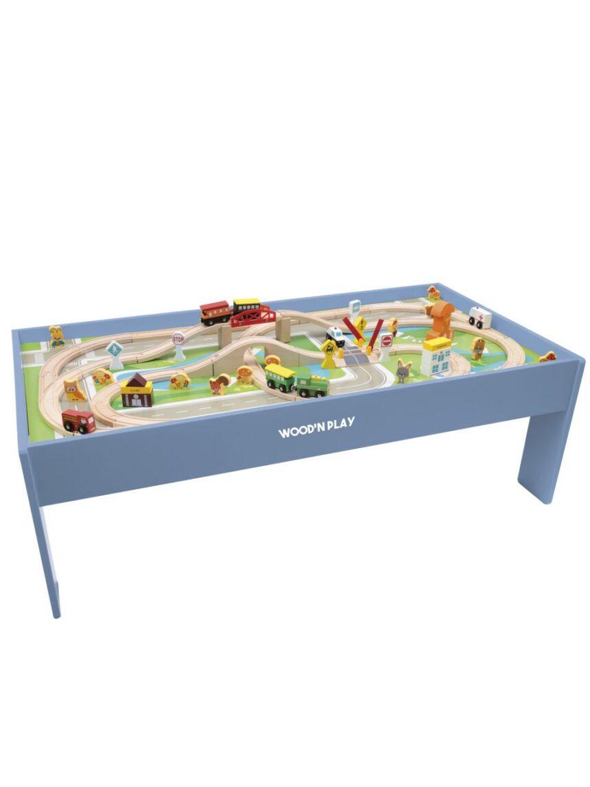 Wood'n play - mesa de jogo de 80 peças - Wood'N'Play