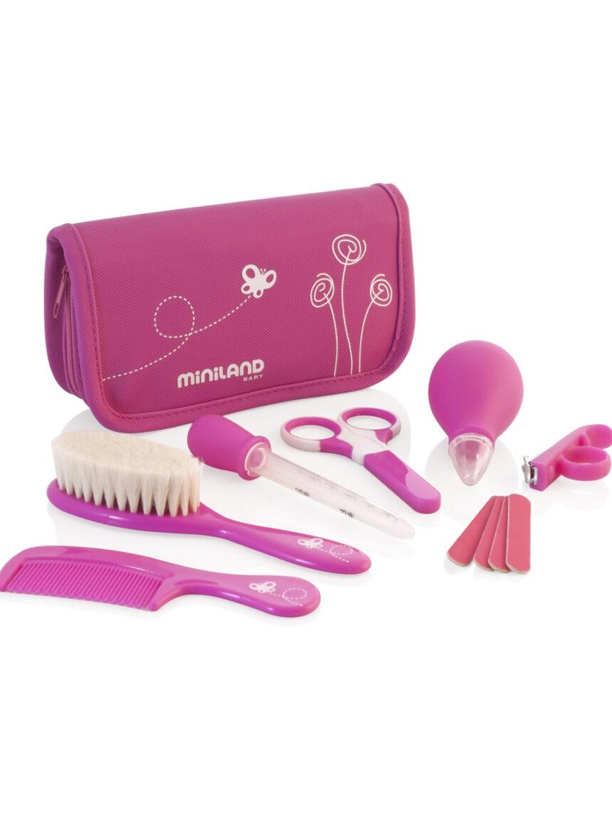 Conjunto de higiene infantil - fúcsia - Miniland