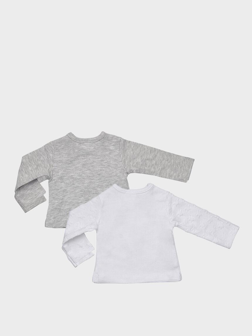 Pacote de 2 capas brancas e cinza com mamadeira - Prénatal