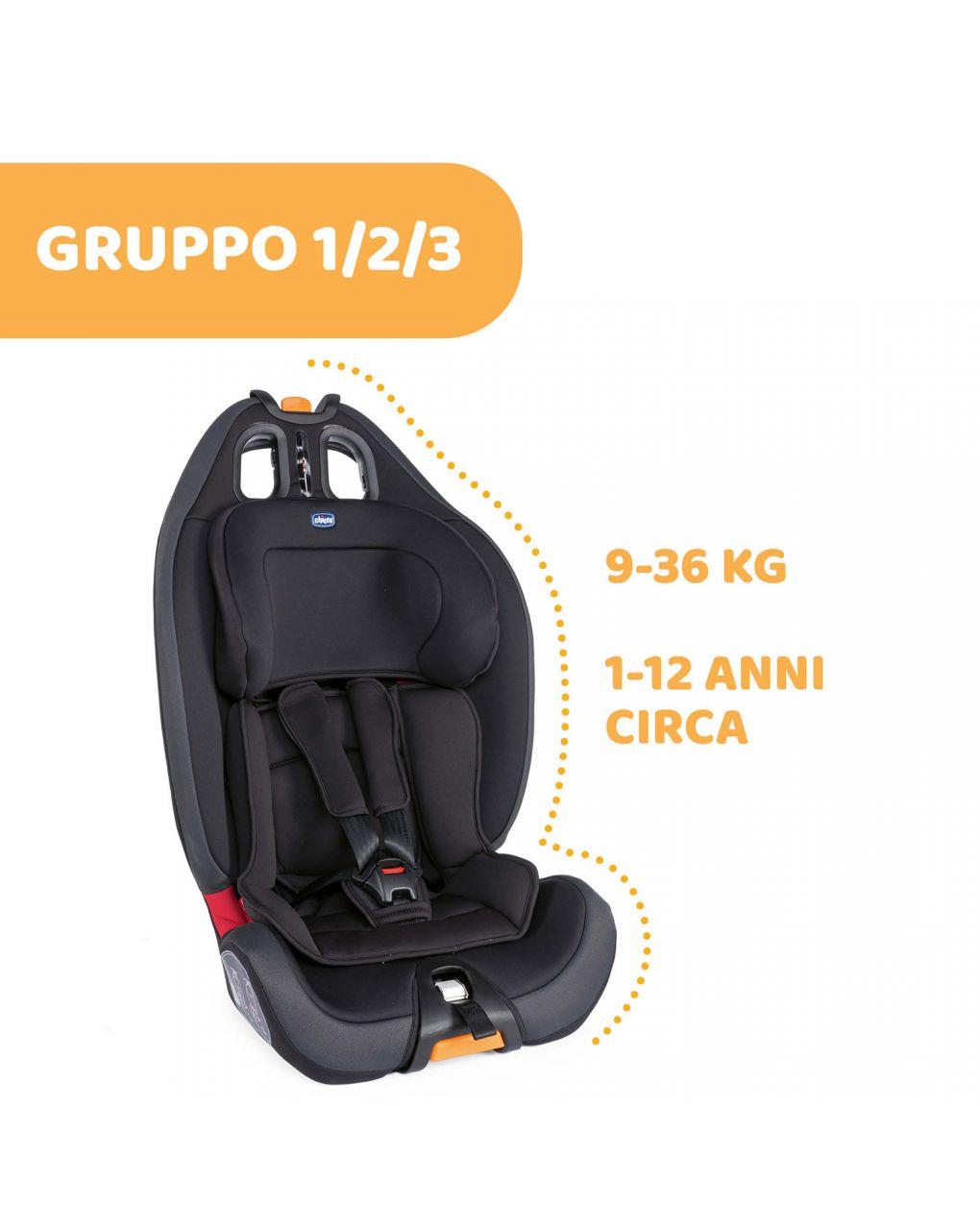 Cadeirinha auto preta 123 gro-up - Chicco