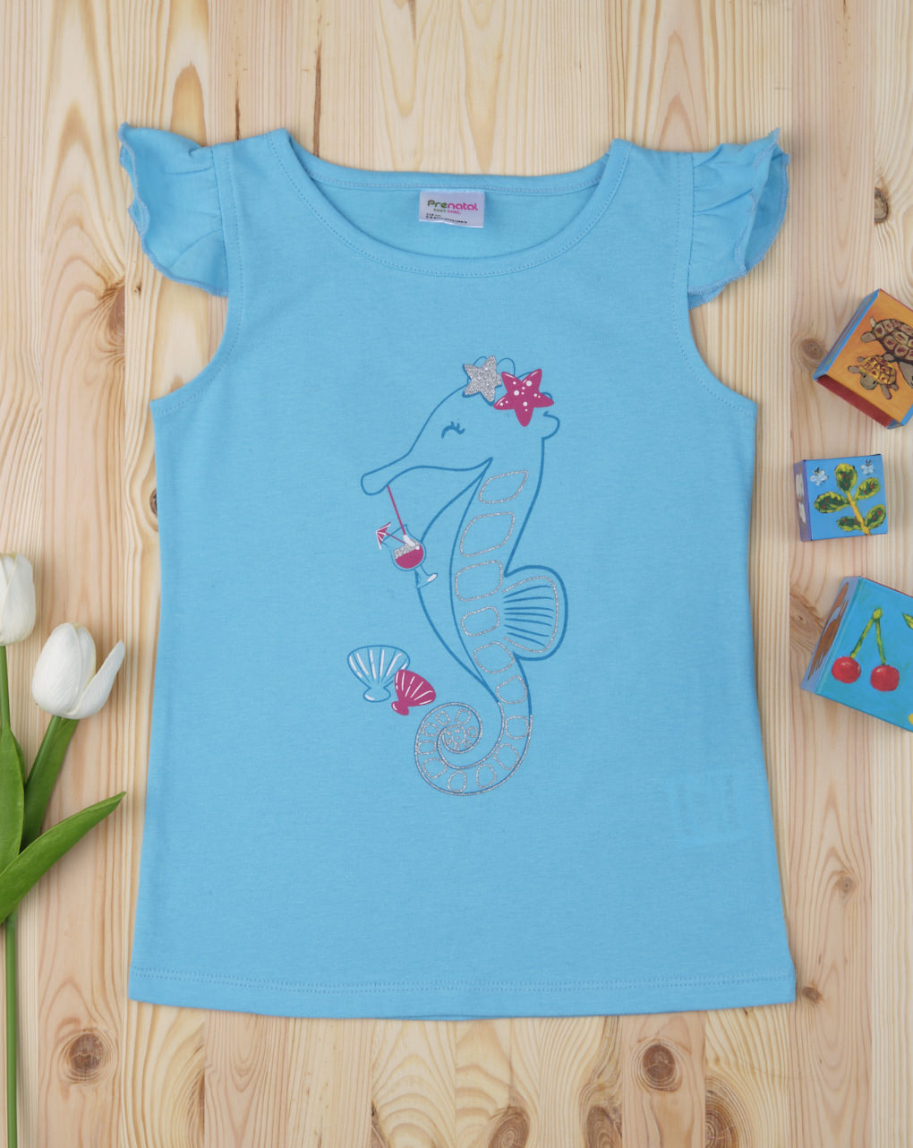 "Camiseta feminina ""seahorse"" - Prénatal"