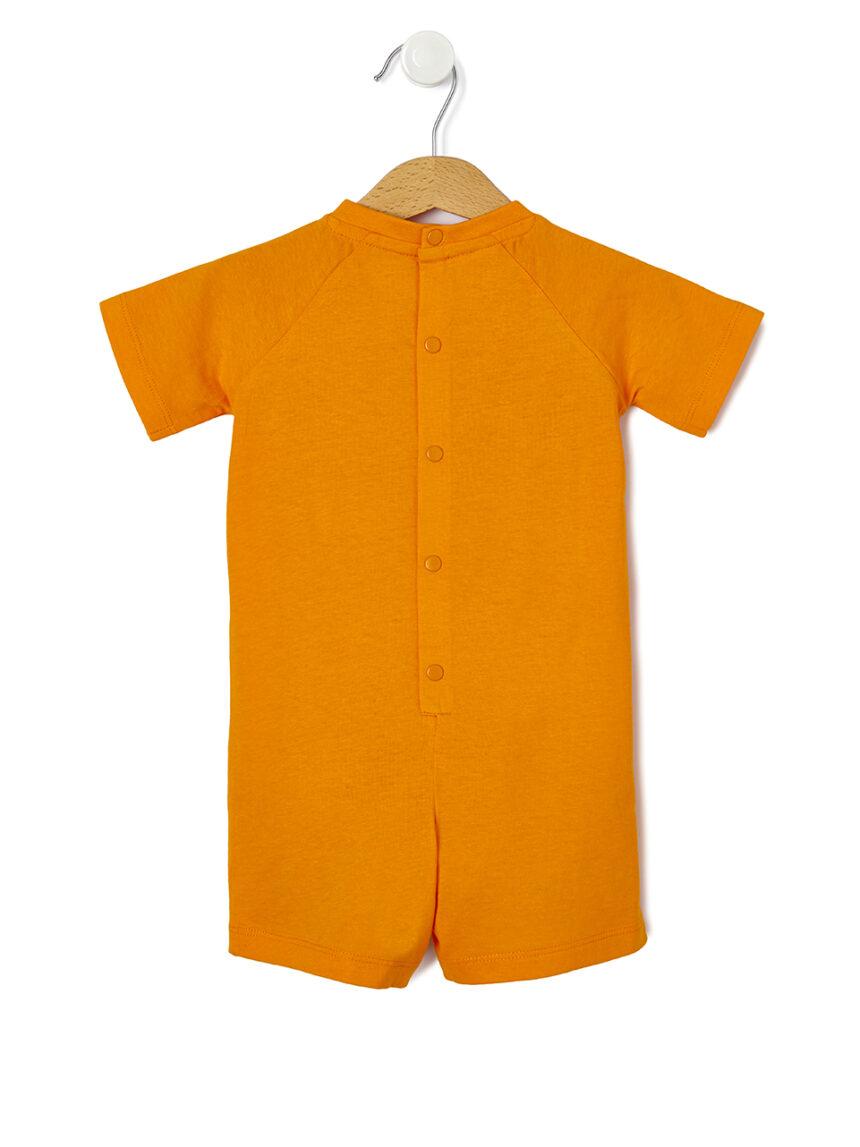 Pijama de jersey com estampa caranguejo - Prénatal