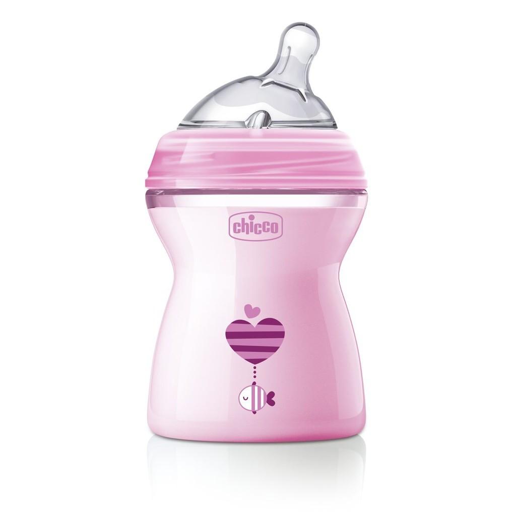 Sensação natural de biberon 2m + rosa - Chicco