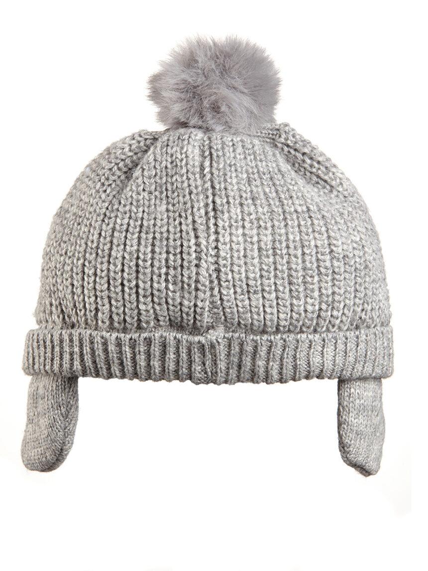 Chapéu de lã com pom pom - Prénatal