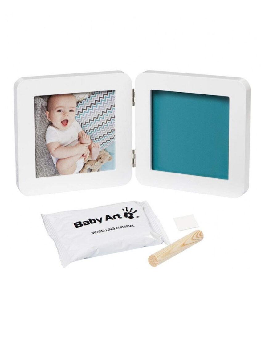 Moldura fotográfica simples de toque de baby art my baby - branca - Baby Art