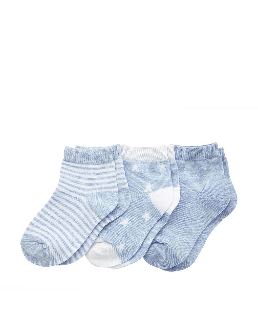Pacote de 3 pares de meias estampadas - Prénatal
