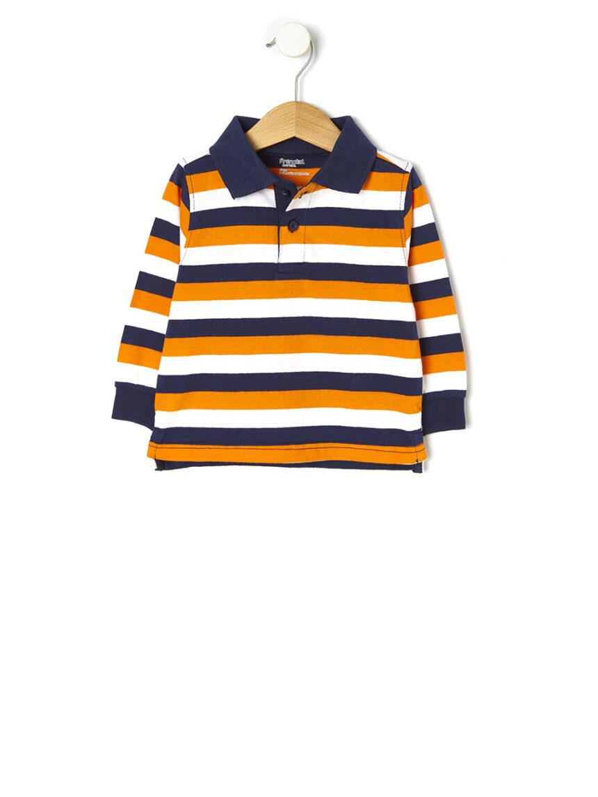 Camisa polo básica listrada - Prénatal