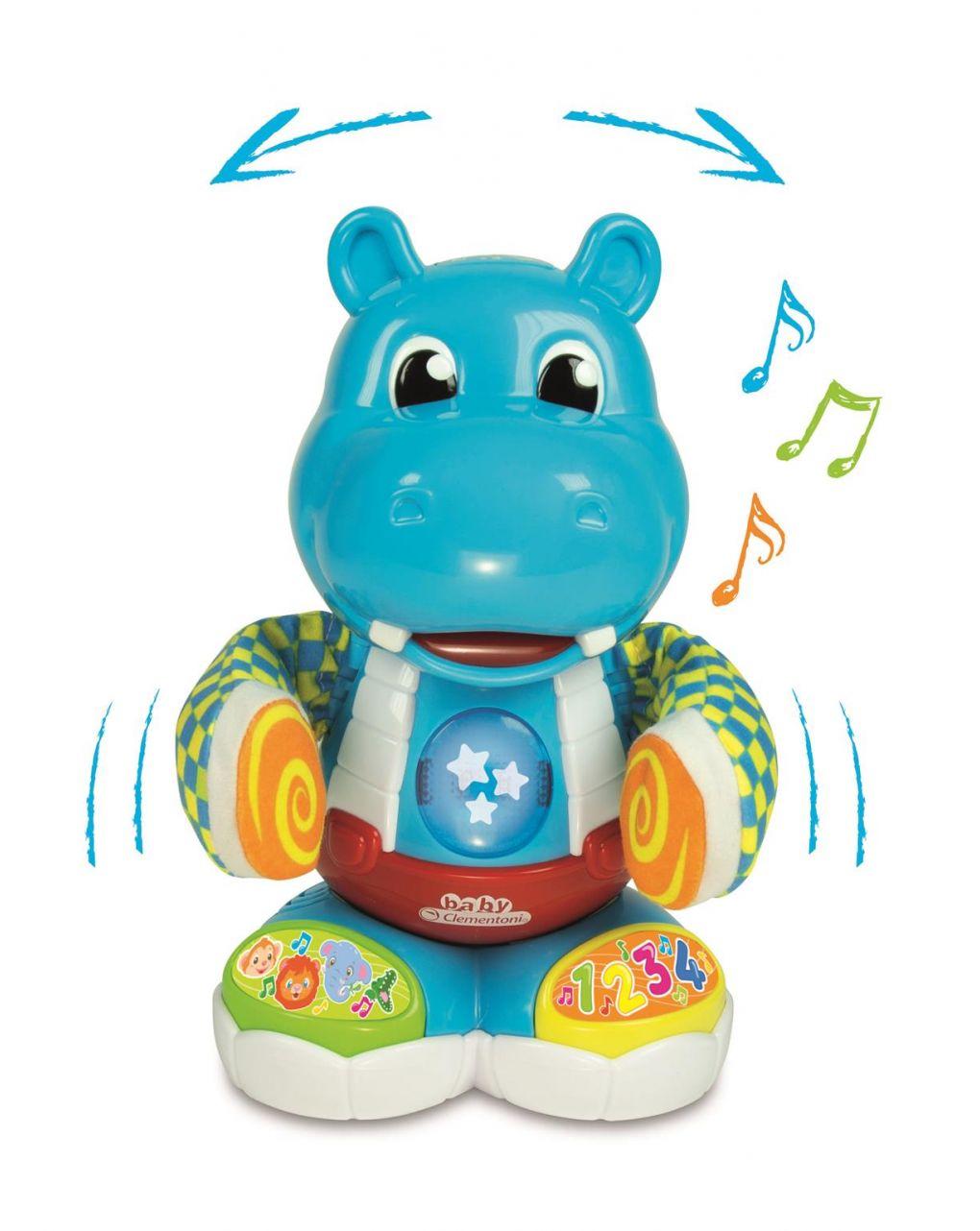Clementoni bebê - filippo, o dançarino de hipopótamo - Clementoni