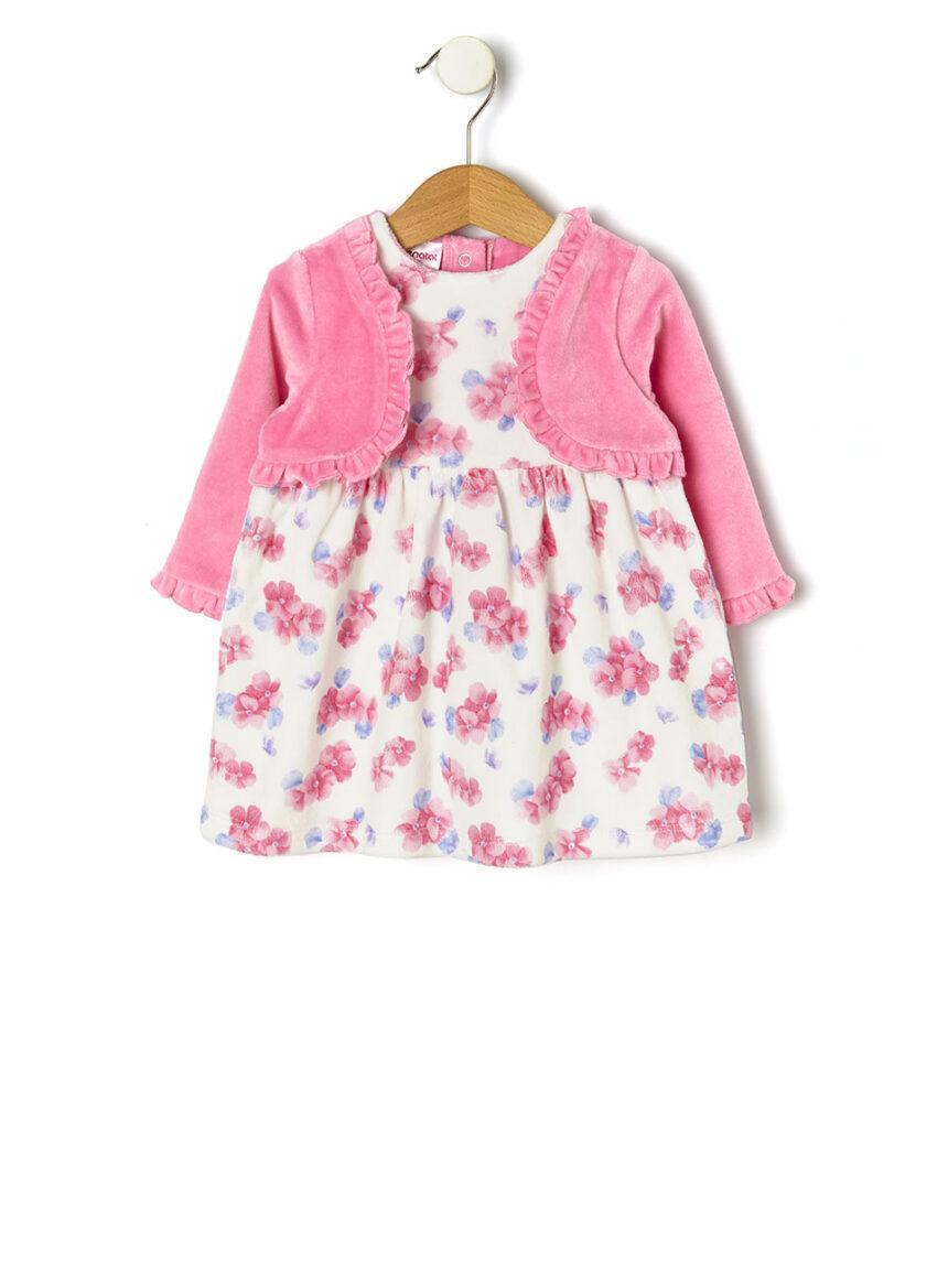 Vestido de chenille com cardigã aplicado - Prénatal