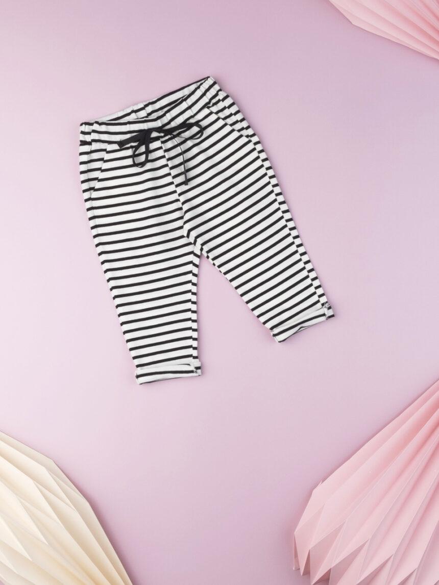 Calça listrada de bebê para menina - Prénatal