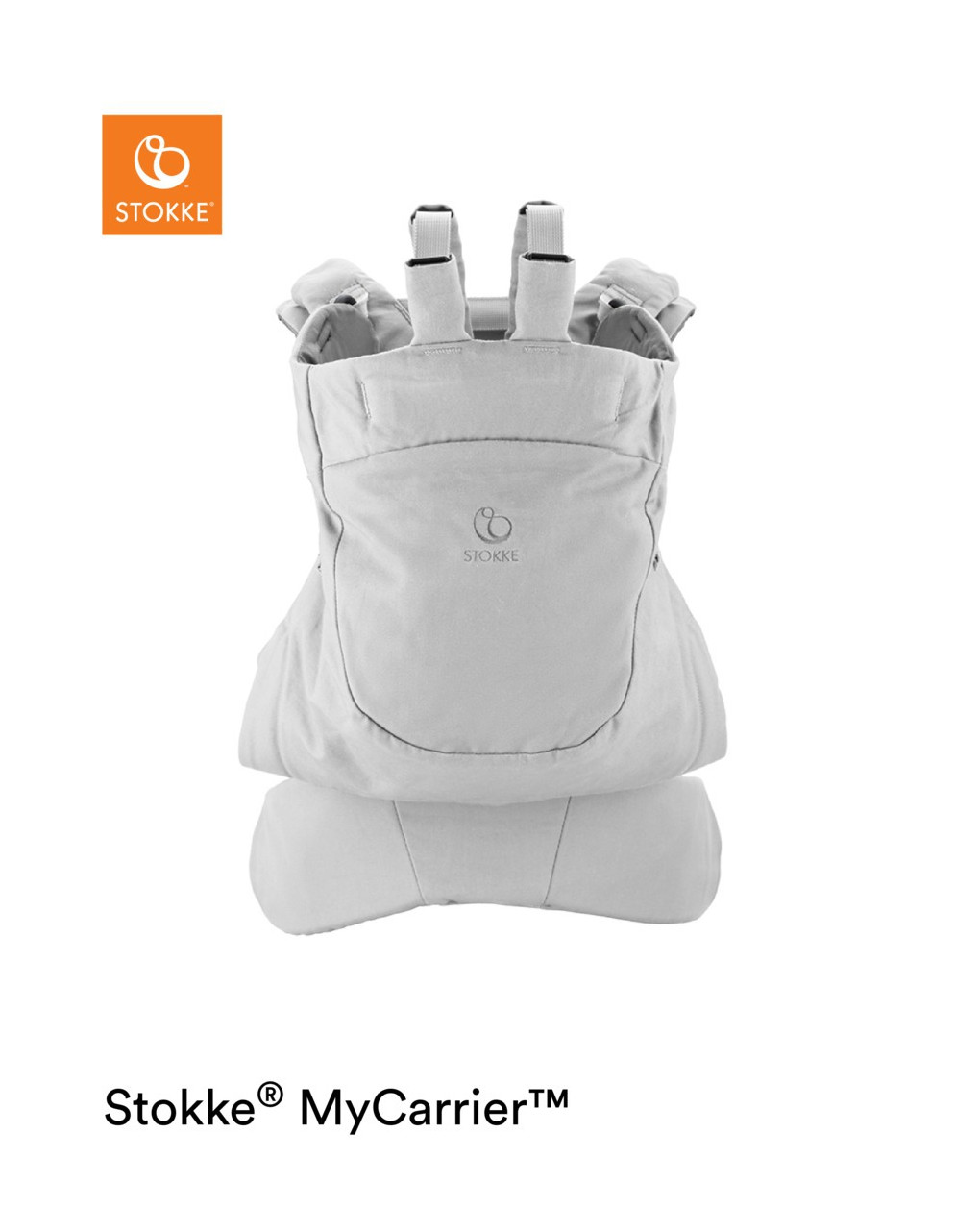 Bolsa cinza dianteira e traseira stokke® mycarrier ™ - Stokke