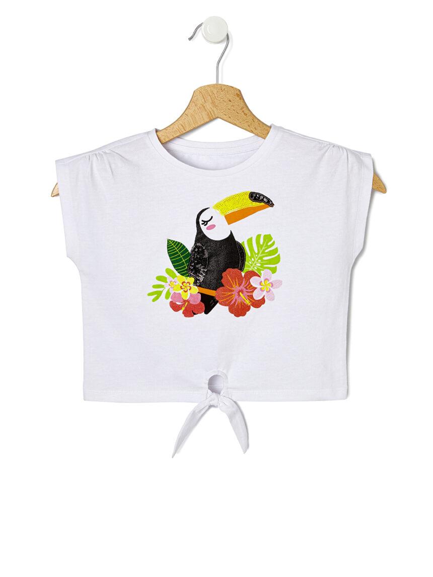 Camiseta de meia manga com estampa do tucano - Prénatal