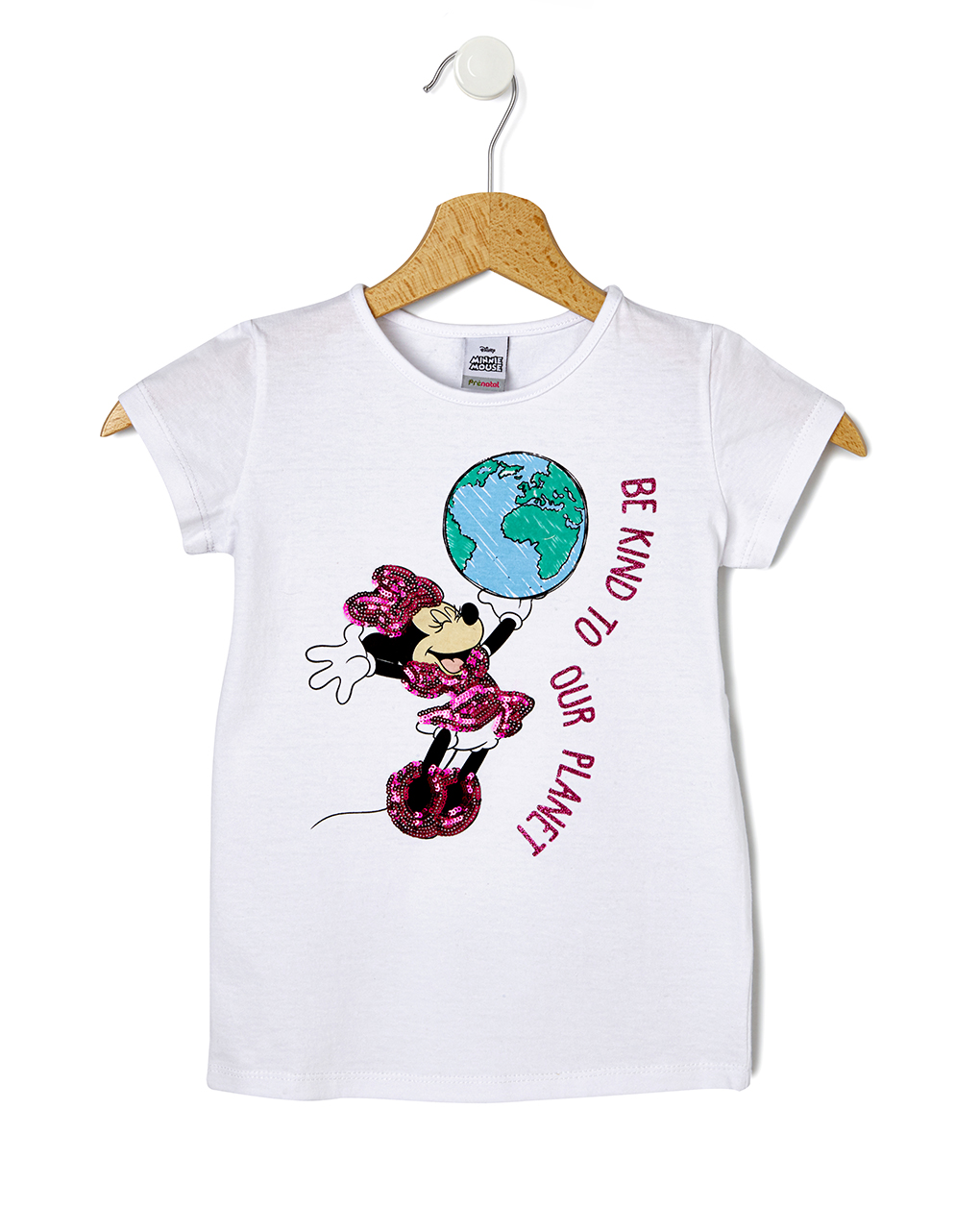 Minnie com t-shirt com lantejoulas - Prénatal