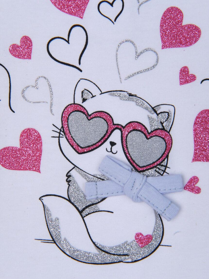 """Camiseta """"gato destruidor de corações"""" - Prénatal"""