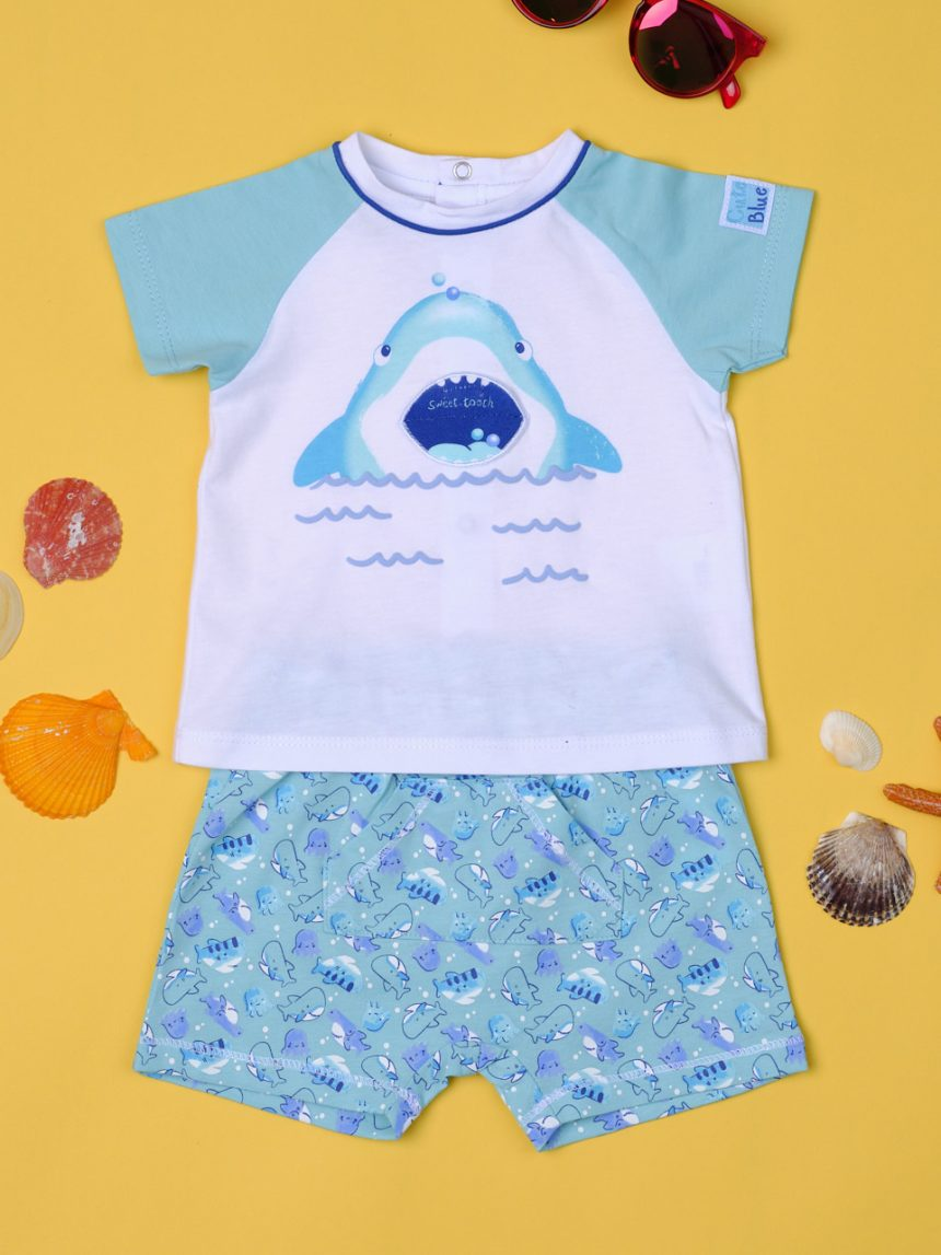 """Completo menino """"tubarão"""" - Prénatal"""
