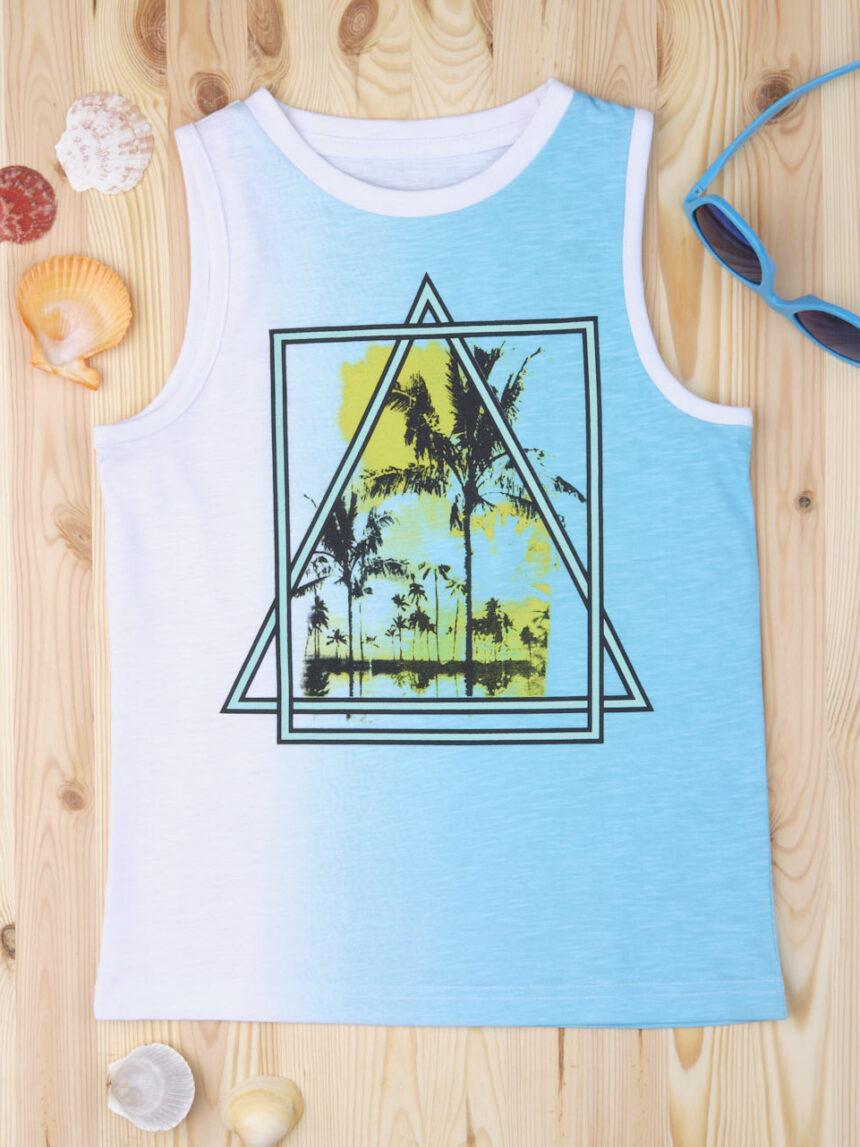 """Camiseta """"triangular"""" azul - Prénatal"""
