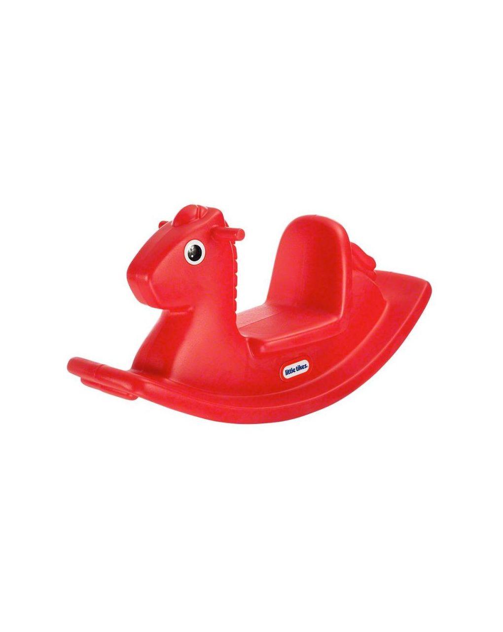 Cavalo de balanço vermelho - Little tikes