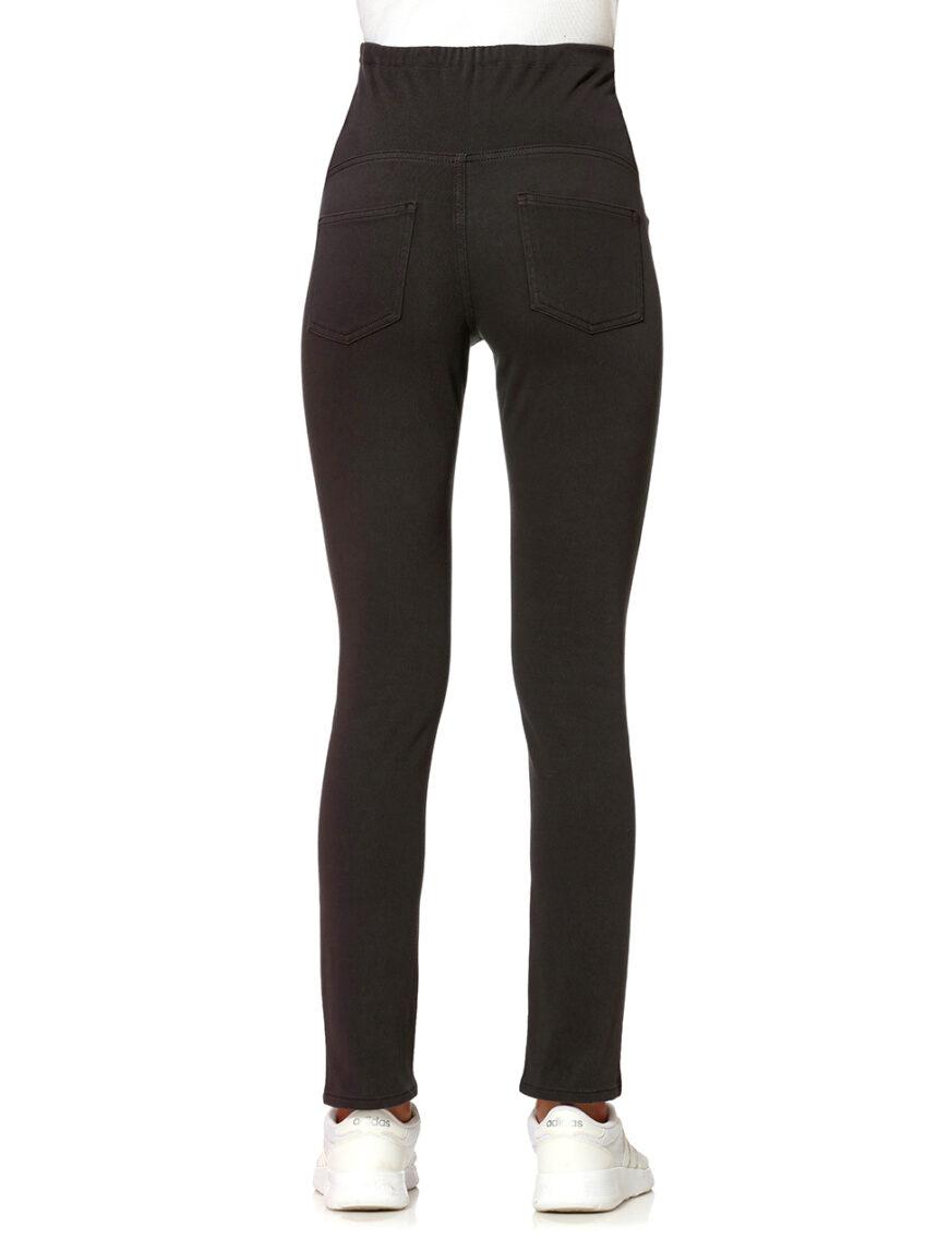 Calças de sarja elástica cinza escuro - Prénatal