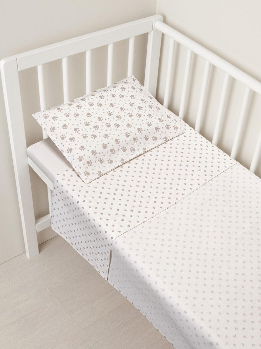 Berço / carrinho de bebê - conjunto de berço de 2 peças com pegadas cinza - Prénatal