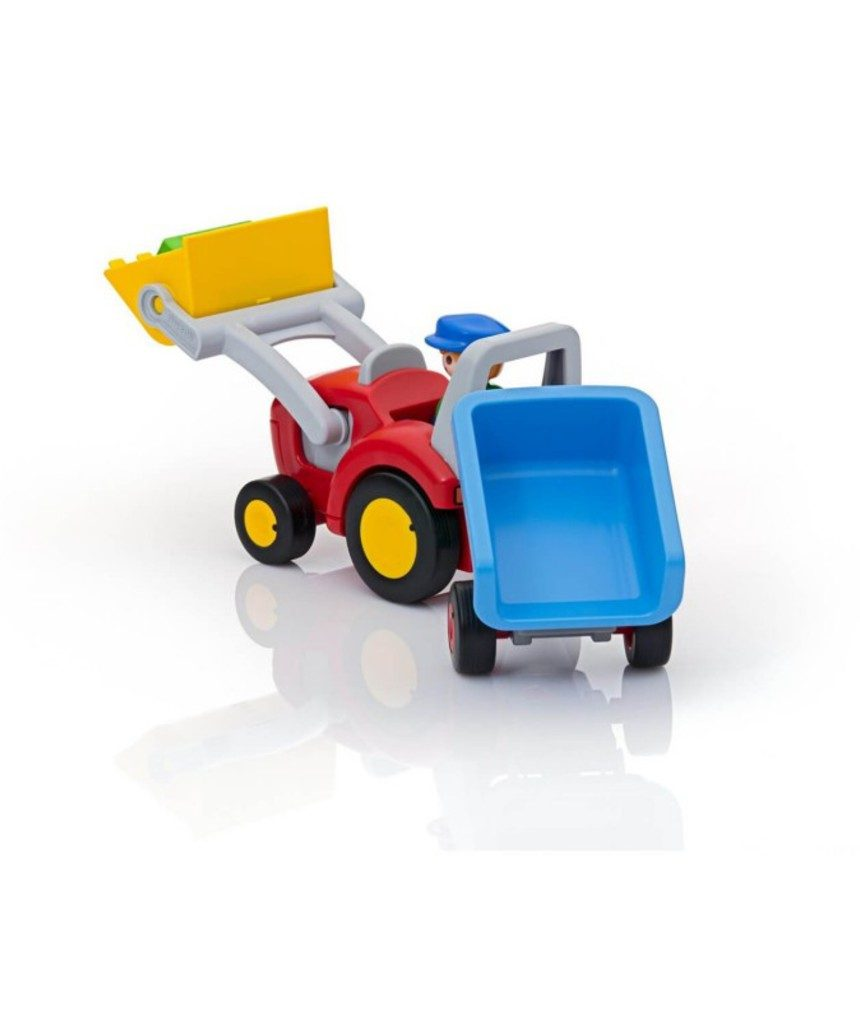 Playmobil - trator com caçamba e reboque 1.2.3 - Playmobil