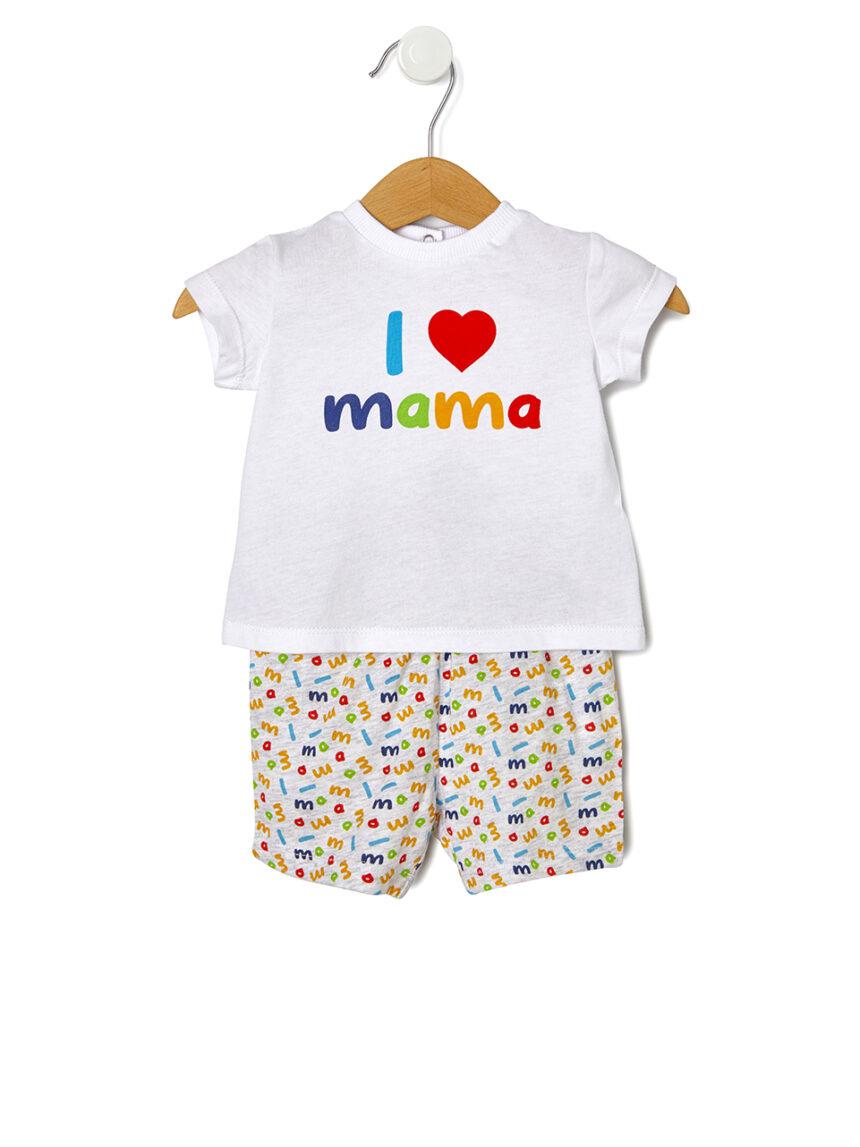 Terno em jersey com estampa i love mama - Prénatal