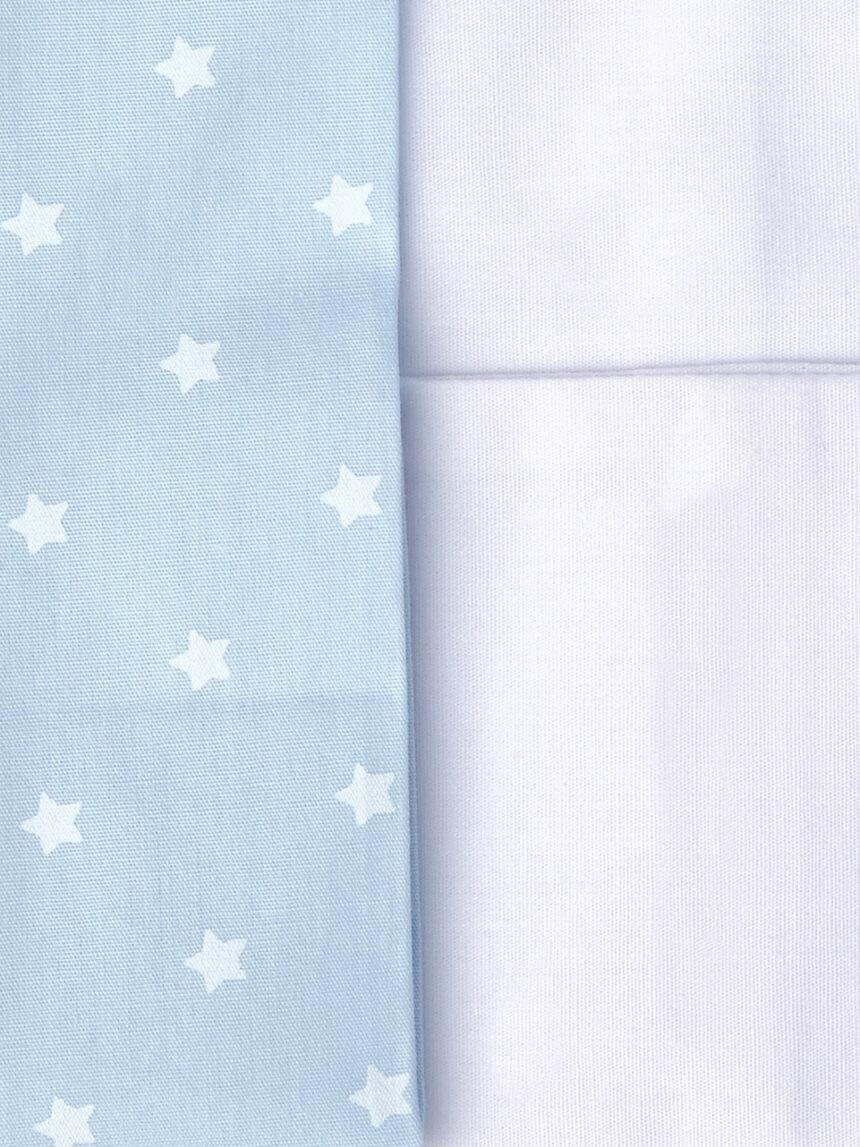 Berço / terno de 3 peças com ursinho de pelúcia e estampa de estrelas azuis - Prénatal