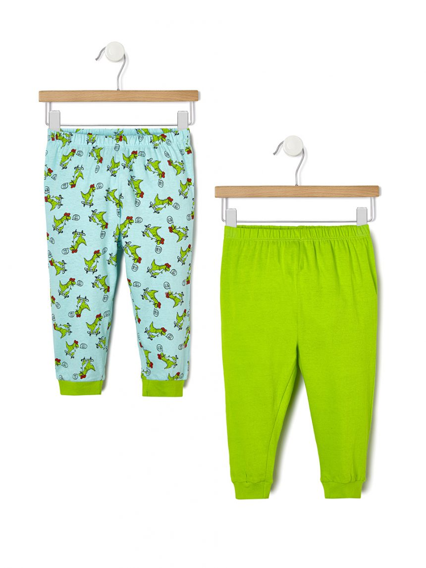 Pacote de 2 pijamas com estampa de dinossauro - Prénatal