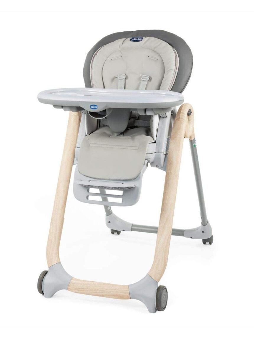 Cadeira alta de madeira escandinava polly progres5 - Chicco